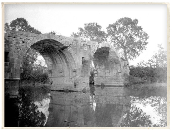 Old photography with two arches